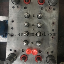 8 cavities flip top cap mould