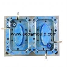 2 caivites 1000ml oval thin wall contanier with Anti-theft clasp mould
