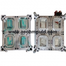 4 cavities 1000ml food contanier thin wall mould